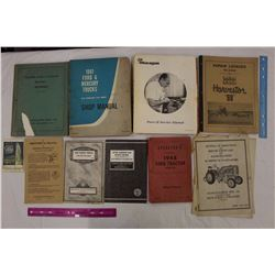 Lot of Vintage Paper Related (Mostly Tractor Manuals)