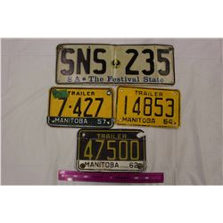 Lot Of Vintage Licence Plates