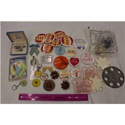 Lot of Vintage Women Related Misc (Avon Related, Pins, Etc)
