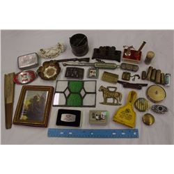 Lot of Vintage Collectible Misc (Lighters, Ford Belt Buckle, Etc)