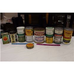 Lot of Tins (14)(Sweet Caporal, Sail, Cameo, Ogden's, Sunkist, Etc)