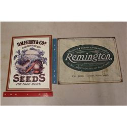 Collector's Signs (2)(Seeds & Remington)