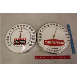 "Feed Advertising Thermometers (2)(12"" Round)"