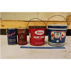 Kitchen Tins (4)(Lard & Baking Powder)