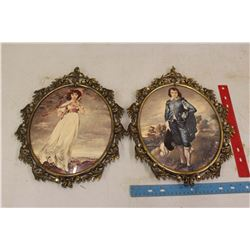 Pr Convex Glass Picture Frame & Picture