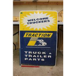 "Metal Traction Advertising Sign (Double Sided)(36""x24"")"