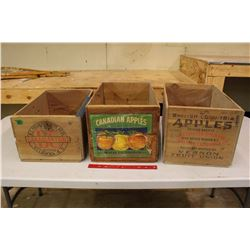 "Wooden Apple Crates (3)(19"" Long)"