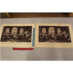 Pair Of Fathers Of Confederation Prints