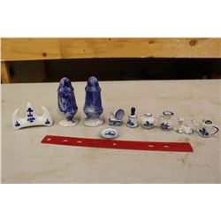Lot Of Porcelain Misc (Salt And Pepper, Etc)