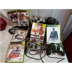 Xbox w/ Cords, 3 Extra Controllers & Games