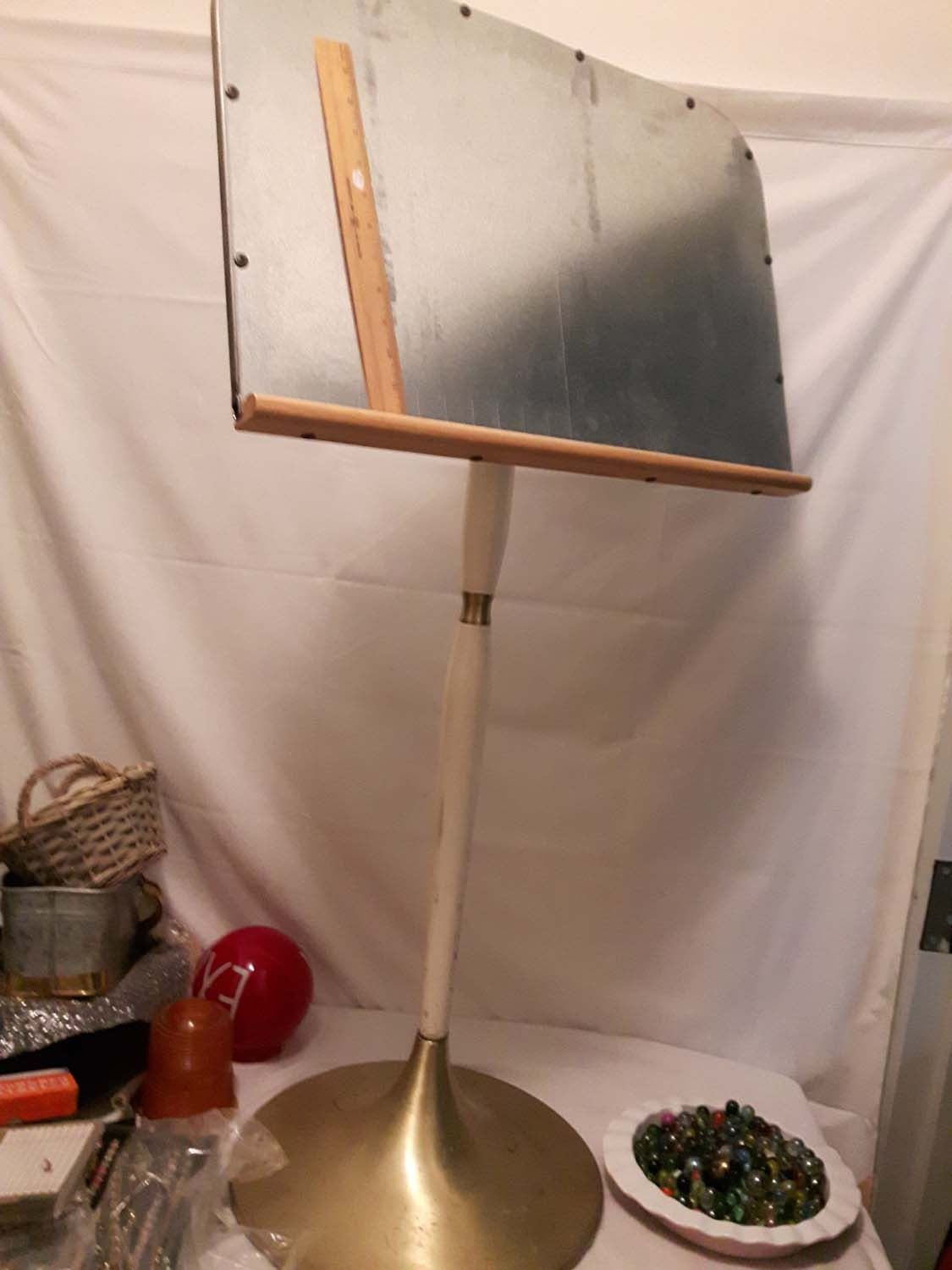 Old metal painting easel or outdoor music stand very heavy image 1 old metal painting easel or outdoor music stand very heavy arubaitofo Choice Image
