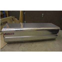 Weather Guard. Aluminum All Purpose Truck Chest, NOS, Scratch And Dent
