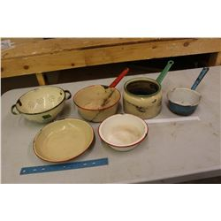 6 Pieces Of Enamel ware