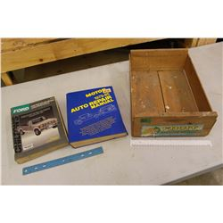 Auto Repair Manuals W/ Wood Apple Box