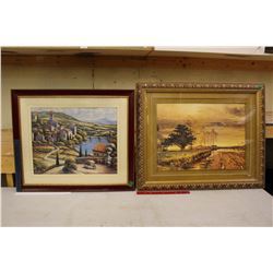 "Pair Of Large Framed Prints (31""x26"")(27""x23"")"