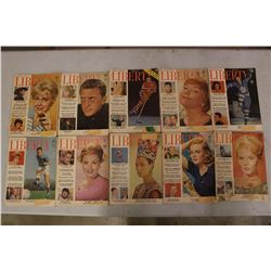 Lot Of Liberty Magazines (10) (1962)