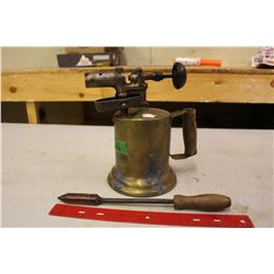 Brass Blow Torch And Iron
