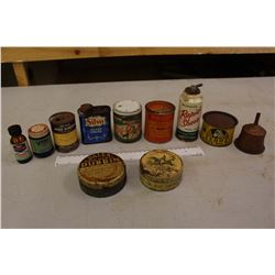 Lot of Vintage Household Bottles&Tins (Silvo, Vicks, Zebra, Palmolive,Properts,Etc)