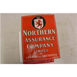 "Porcelain Northern Assurance Company Sign (19.5""x15"")"