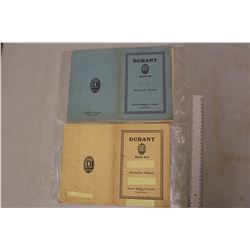 1920s Durant Car Instruction Manuals (Toronto)