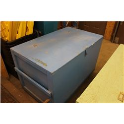 Blue Wooden Tack Box