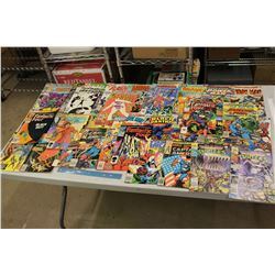Lot Of Superhero Comic Books, (Fantastic Four, Flash, Spiderman, Black Panther, Daredevil) 70's and