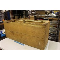 "Wooden Crate 14""x42""x19"""