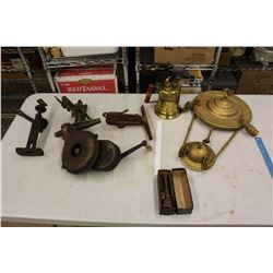 Lot Of Vintage Misc. (Blower, Clamps, Chandelier, Torch, Etc)