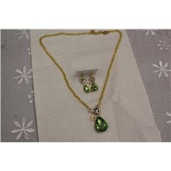Peridot Cat Design Set (Gold Plated)