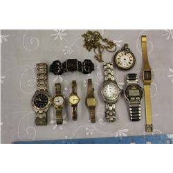 Lot of Watches (9)(Some Working, Some Not)