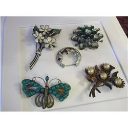 Vintage Brooches (5)(1940s&1950s)