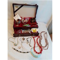 Jewellery Case With Costume Jewellery