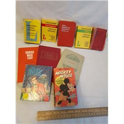 Pocket Language Dictionaries, Tale Of Mystery By Edgar Allen Poe, Macbeth, Mickey Mouse