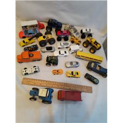 Various Toy Cars And Trucks
