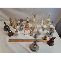 Collection Of Ceramic And Metal Bells