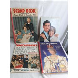 2 Royal Scrapbooks, Royal Wedding Books And 1969 English Magazine On The Royals