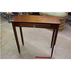 Cherry Wood Hall Table w/Drawer