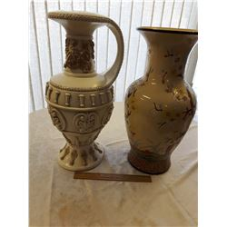 Very Large Ornate Vases (2)
