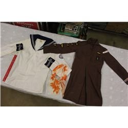 Girl Scouts Blouse and Scarf & A Boy Scouts Uniform
