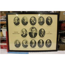 "Framed Prime Ministers of Canada Picture (29.5""x22.5"")"