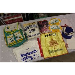 Lot of Vintage Misc (Sprite Backpack, Bombers Hat, Toques, Etc)