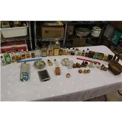 Huge Lot of Vintage Misc (Kitchen Bottles, Spices, S&P Shakers, Etc)