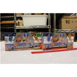2 Sealed 2015-16 Connor McDavid Upper Deck Collections