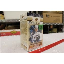 Sealed box of 2017-18 Upper Deck Artifacts Hockey Cards, 8 Packs