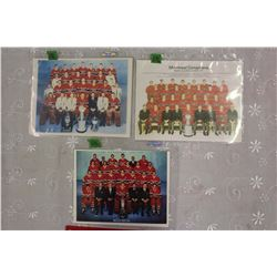 Lot of 3 Montreal Canadiens Team Pictures(reprints): 1957-58, 1961-62& 1970-71