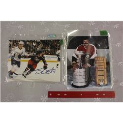 "Bernie Parent & Derek Dorsett – Autographed 8"" x 10"" photos"
