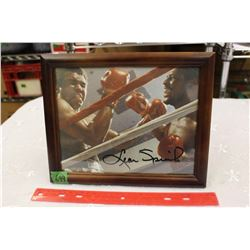 "Leon Spinks vs Mohammed Ali – 8"" x 10"" Photo, Autographed by Leon Spinks"