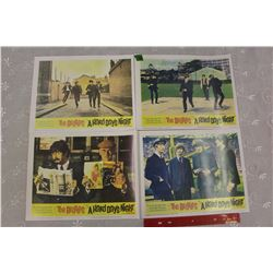 "Set of 4: The Beatles ""A Hard Day's Night"" reprint Movie Lobby Cards"