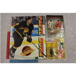 Pavel Bure Picture, Bure Starting Line-up Figure& 1988 Esso NHL All-Star Collection Album