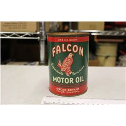 Vintage Falcon Motor Oil Tin